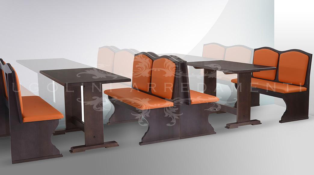 Panca 045 set tavoli e panche panca per birreria enoteca e pub