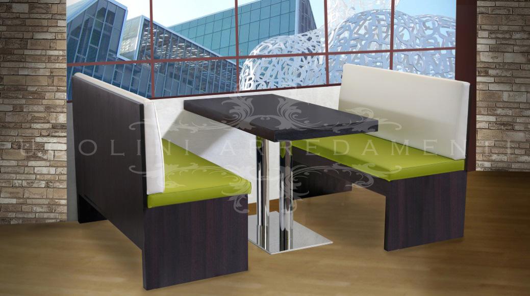 Panche 210 - Set Tavoli e Panche moderne per ristoranti bar, set ...