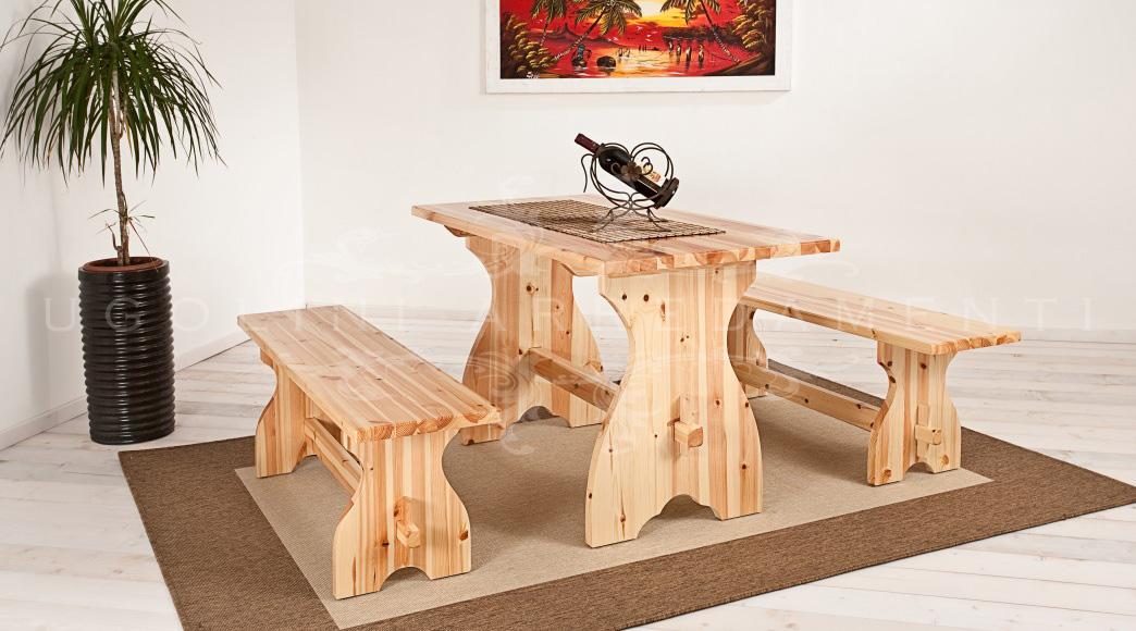 Panca 010 set tavoli e panche panche rustiche senza schienale