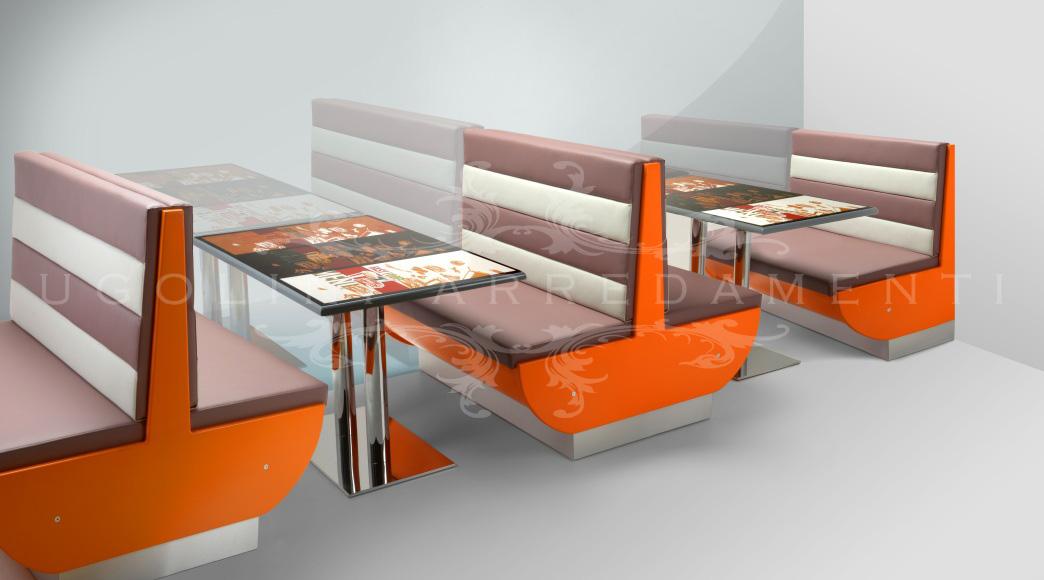 Panche Per Fast Food.Panca 185 Set Tavoli E Panche Per Fast Food Ugolini Arredamenti
