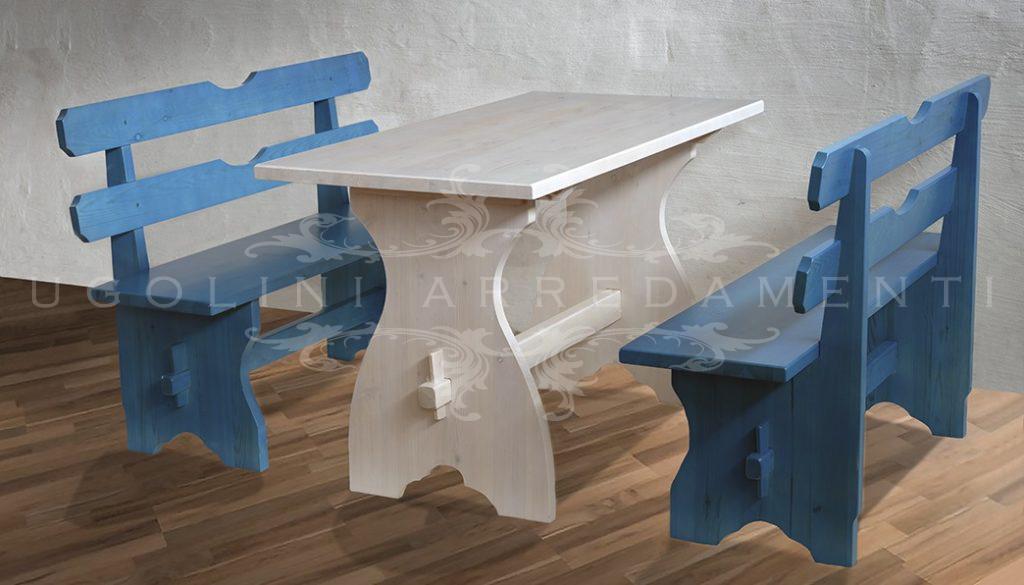 Panca 005 set tavoli e panche panca da esterno per birreria e pub - Tavoli e panche da birreria ...
