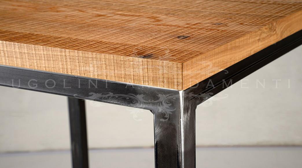 Tavolo in legno in stile industriale gary homeplaneur