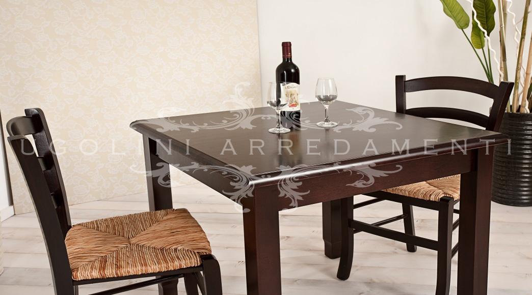 Tavolo 080 tavoli in legno per enoteche e agriturismi