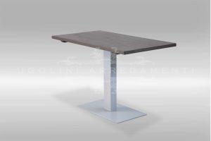 Tavolo base metallo piana legno