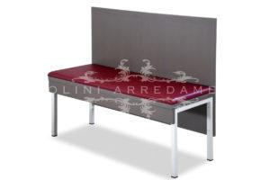 Elegante set panche e tavolo in metallo 175 5