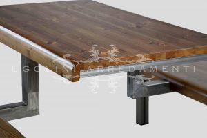 Panca da ristorante 280 - con sedili e piano in legno di pino